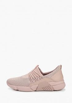 Женские розовые кожаные кроссовки