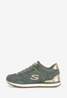 Женские зеленые кроссовки SKECHERS