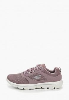 Женские фиолетовые кожаные кроссовки