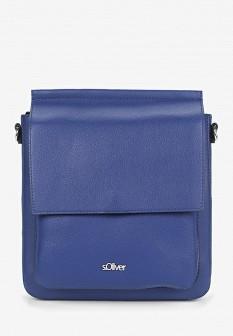 Женская синяя кожаная сумка S.OLIVER
