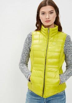 Женский желтый осенний утепленный жилет
