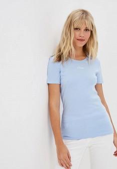 Женская голубая футболка S.OLIVER