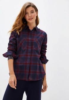 Женская бордовая осенняя рубашка