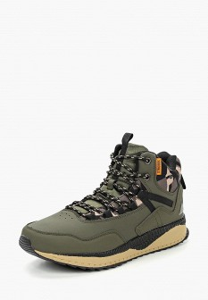 Мужские зеленые осенние кожаные трекинговые ботинки