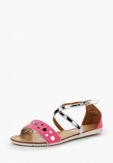 Женские розовые кожаные сандалии