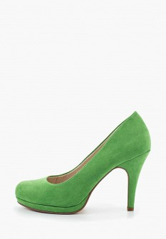 Женские зеленые туфли на каблуке