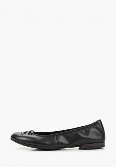 Женские черные кожаные балетки