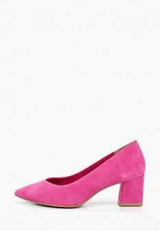 Женские розовые туфли на каблуке