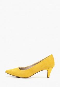 Женские желтые туфли на каблуке