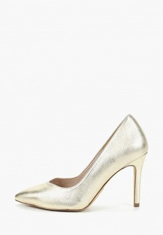 Женские кожаные туфли на каблуке