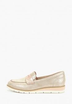Женские кожаные туфли лоферы на каблуке