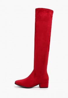 Красные осенние ботфорты Tamaris