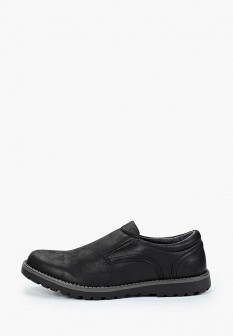 Мужские черные осенние туфли лоферы