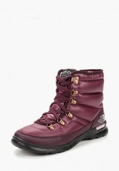 Женские фиолетовые осенние ботинки