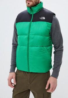 Мужской зеленый осенний утепленный жилет