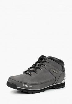 Мужские серые осенние трекинговые ботинки из нубука
