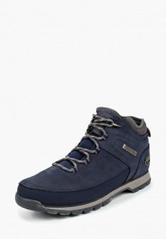Мужские синие осенние трекинговые ботинки из нубука