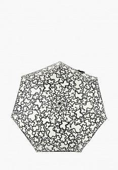 Женский бежевый складной зонт