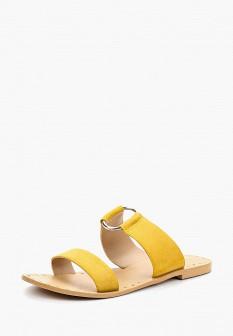 Женские желтые осенние сабо