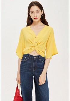 Желтая осенняя блузка Topshop
