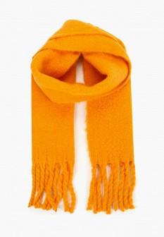 Женский оранжевый осенний шарф
