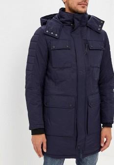 Мужская синяя утепленная осенняя куртка