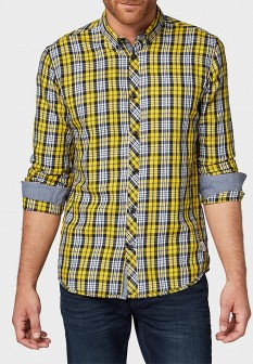 Мужская желтая рубашка TOM TAILOR