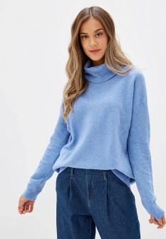 Женский голубой осенний свитер