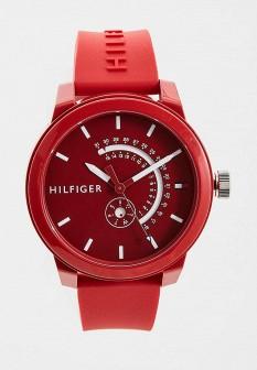 Мужские красные часы Tommy Hilfiger
