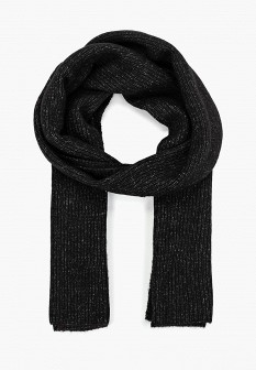 Женский черный осенний шарф