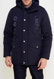 Мужская синяя утепленная куртка