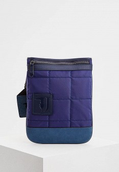 Мужская синяя осенняя сумка Trussardi Jeans