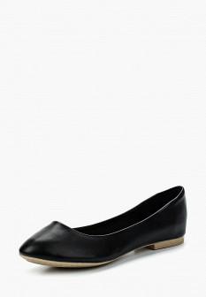 Женские черные осенние кожаные балетки
