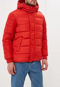 Мужская красная утепленная осенняя куртка