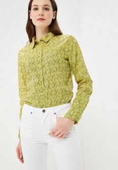 Женская желтая рубашка United Colors of Benetton