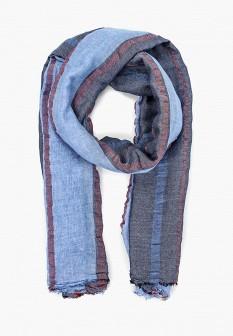 Мужской голубой итальянский осенний летний шарф