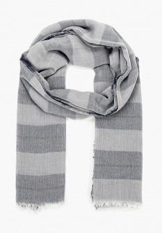 Мужской серый итальянский осенний летний шарф