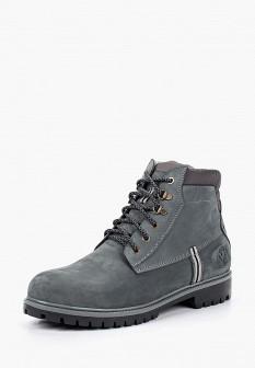 Мужские серые осенние ботинки из нубука