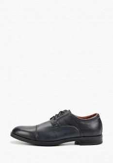 Мужские синие осенние кожаные туфли