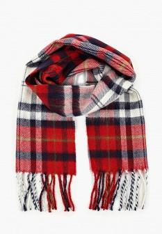 Мужской красный итальянский осенний шарф