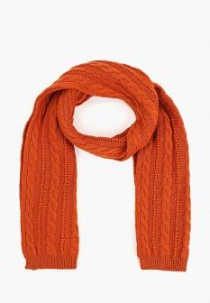Женский оранжевый итальянский осенний шарф