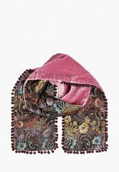 Женский розовый черный итальянский осенний шарф