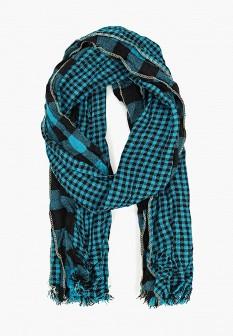 Женский бирюзовый итальянский осенний шарф