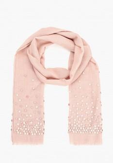 Женский розовый итальянский осенний шарф