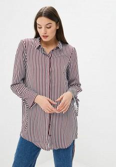 Бордовая осенняя блузка Vero moda