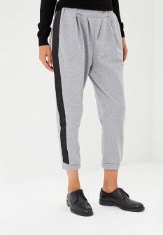 Женские серые осенние брюки спорт