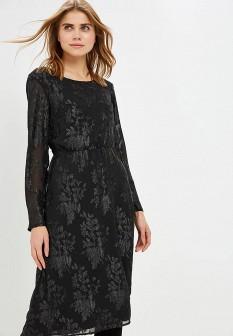 Черное осеннее платье Vila
