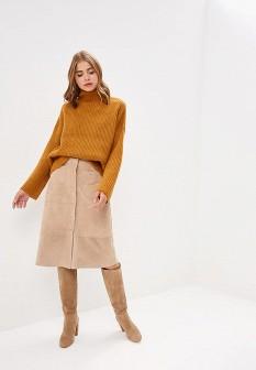 Женский коричневый осенний свитер