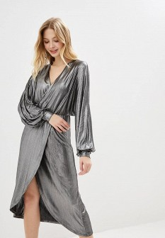 Осеннее серебряное платье Vila