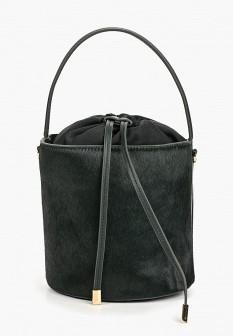 Женская зеленая меховая сумка